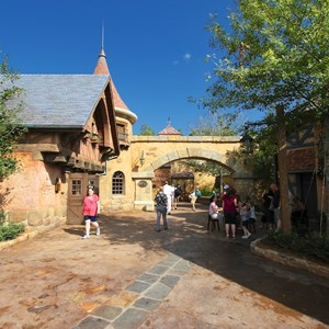 22 of 43: Fantasyland - Fantasyland soft opening - Belle's Village restrooms