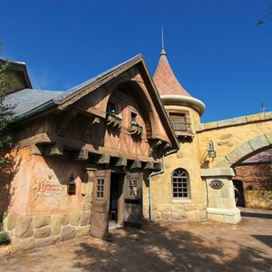 23 of 43: Fantasyland - Fantasyland soft opening - Belle's Village and side entrance to Gaston's Tavern