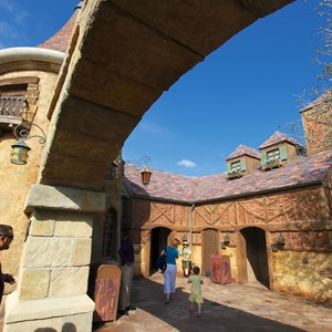 24 of 43: Fantasyland - Fantasyland soft opening - Belle's Village restrooms