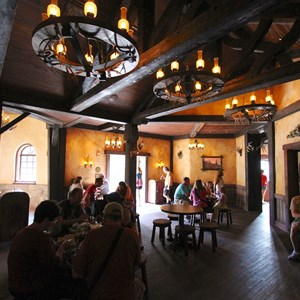28 of 43: Fantasyland - Fantasyland soft opening - Inside Gaston's Tavern