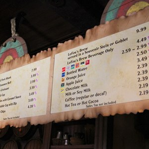29 of 43: Fantasyland - Fantasyland soft opening - Gaston's Tavern menu