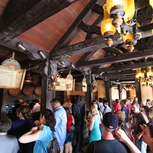30 of 43: Fantasyland - Fantasyland soft opening - Gaston's Tavern ordering area