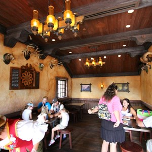31 of 43: Fantasyland - Fantasyland soft opening - Gaston's Tavern dining room