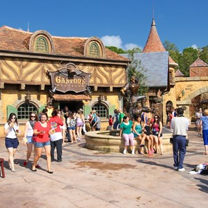 34 of 43: Fantasyland - Fantasyland soft opening - Gaston's Tavern