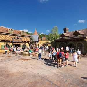 35 of 43: Fantasyland - Fantasyland soft opening - Belle's Village