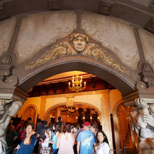 2 of 21: Fantasyland - Inside Be our Guest Restaurant - The lobby