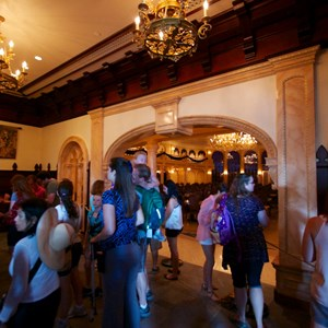 3 of 21: Fantasyland - Inside Be our Guest Restaurant -  The lobby