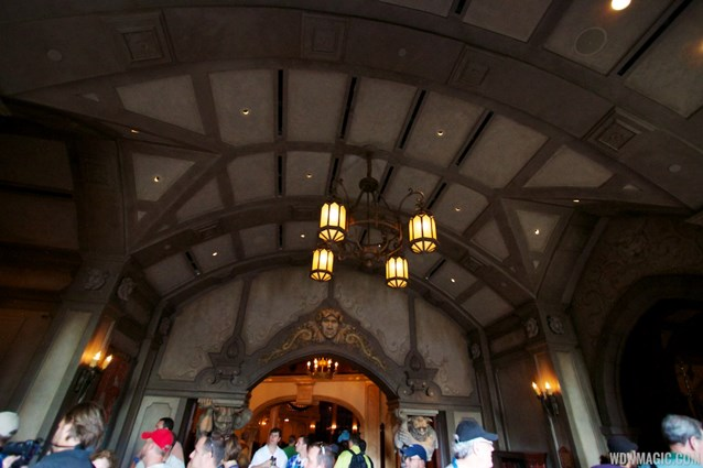 Fantasyland - Inside Be our Guest Restaurant -  Wide view of the lobby ceiling
