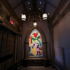 7 of 21: Fantasyland - Inside Be our Guest Restaurant -  Inside the lobby