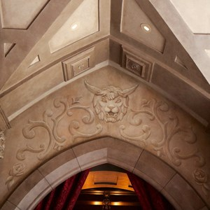 13 of 21: Fantasyland - Inside Be our Guest Restaurant -  Lobby decor