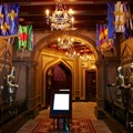 Fantasyland - Inside Be our Guest Restaurant -  The quick service touch screen order menus on the right side of the lobby