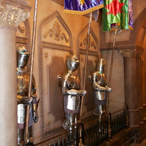 17 of 21: Fantasyland - Inside Be our Guest Restaurant -  Decor inside the quick service ordering area