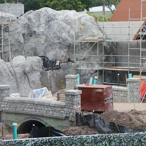 4 of 5: Fantasyland - New Fantasyland restroom area construction