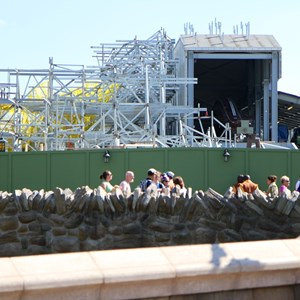 1 of 6: Fantasyland - Seven Dwarfs Mine Train coaster construction