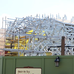 2 of 6: Fantasyland - Seven Dwarfs Mine Train coaster construction
