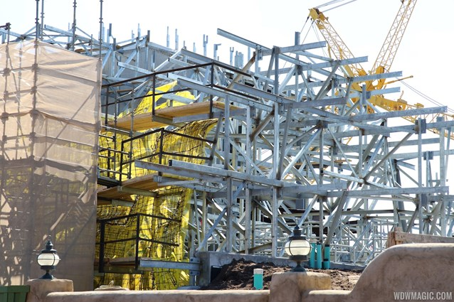 Fantasyland - Seven Dwarfs Mine Train coaster construction