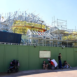 5 of 6: Fantasyland - Seven Dwarfs Mine Train coaster construction
