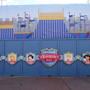 1 of 3: Fantasyland - Princess Fairytale Hall signage and scrim