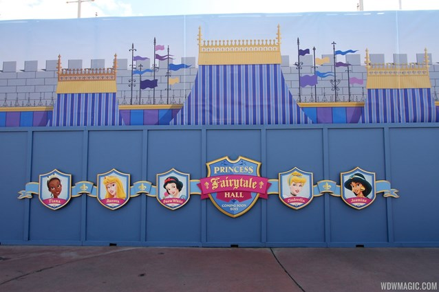 Fantasyland - Princess Fairytale Hall signage and scrim