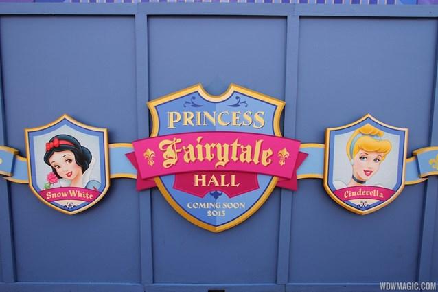Fantasyland - Princess Fairytale Hall signage and scrim