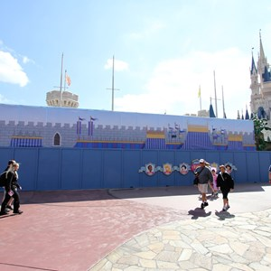 3 of 3: Fantasyland - Princess Fairytale Hall signage and scrim