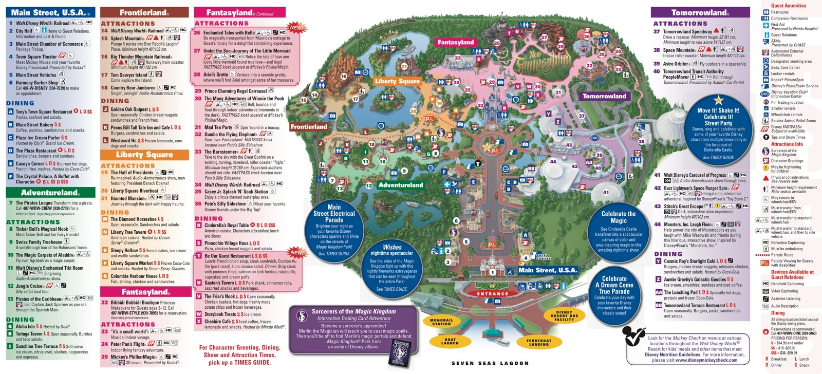 New Fantasyland On The Magic Kingdom Guide Map Photo  Of - Florida map attractions