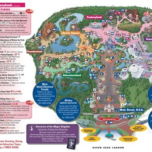 1 of 2: Fantasyland - New Fantasyland on the Magic Kingdom guide map