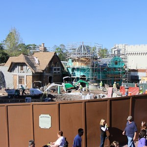 1 of 8: Fantasyland - New Fantasyland restroom area construction