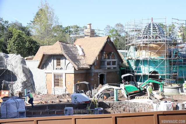 Fantasyland - New Fantasyland restroom area construction
