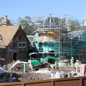 3 of 8: Fantasyland - New Fantasyland restroom area construction