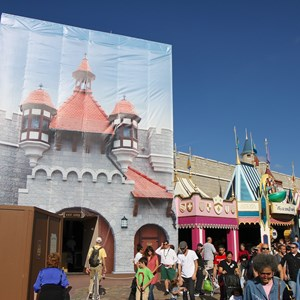 8 of 8: Fantasyland - New Fantasyland restroom area construction