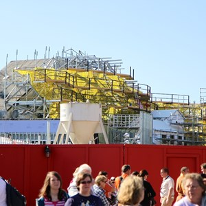 2 of 11: Fantasyland - Seven Dwarfs Mine Train coaster construction