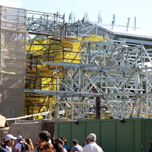 6 of 11: Fantasyland - Seven Dwarfs Mine Train coaster construction
