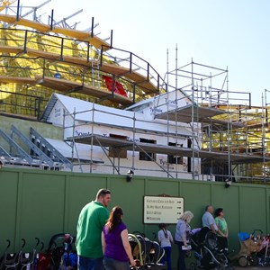 8 of 11: Fantasyland - Seven Dwarfs Mine Train coaster construction