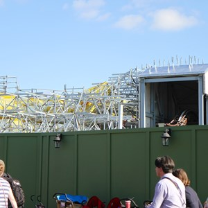 9 of 11: Fantasyland - Seven Dwarfs Mine Train coaster construction