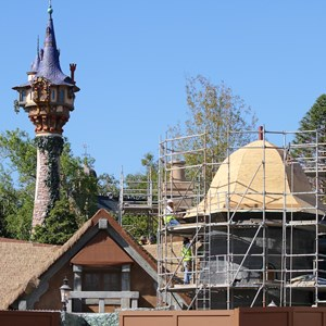 3 of 4: Fantasyland - Tower joins New Fantasyland restroom area