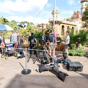 2 of 20: Fantasyland - TV film crews recording segments in the new Fantasyland