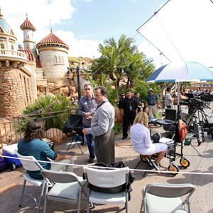 3 of 20: Fantasyland - TV film crews recording segments in the new Fantasyland