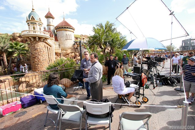 Fantasyland - TV film crews recording segments in the new Fantasyland