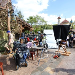 4 of 20: Fantasyland - TV film crews recording segments in the new Fantasyland