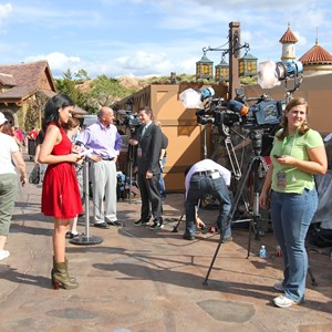 5 of 20: Fantasyland - TV film crews recording segments in the new Fantasyland