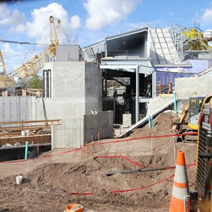 "9 of 20: Fantasyland - A look through the new ""sneak peek' wall"