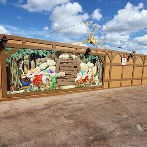 15 of 20: Fantasyland - New Seven Dwarfs Mine Train  construction walls