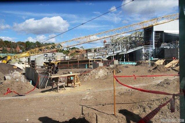 "Fantasyland - A look through the new ""sneak peek' wall"