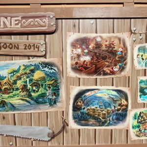 19 of 20: Fantasyland - New Seven Dwarfs Mine Train  construction wall art