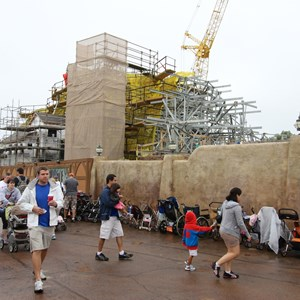 5 of 16: Fantasyland - Seven Dwarfs Mine Train coaster construction