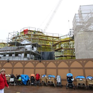 6 of 16: Fantasyland - Seven Dwarfs Mine Train coaster construction