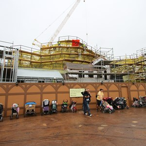 7 of 16: Fantasyland - Seven Dwarfs Mine Train coaster construction
