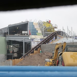 9 of 16: Fantasyland - Seven Dwarfs Mine Train coaster construction