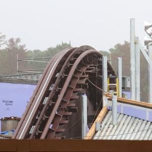 14 of 16: Fantasyland - Seven Dwarfs Mine Train coaster construction